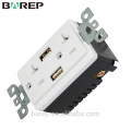 UL 20A Duplex Receptacle USB outlet with Tamper Resistant Function TR-BAS20-2USB