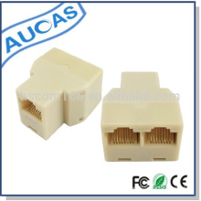 Telephone Adapter Female to Female RJ45 Adapter for Network Cable