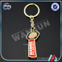 Porte-clés porte-bouteille en alliage d'aluminium clé promotionnelle