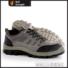 Sapato de segurança de couro camurça (SN5458) de corte de PU/PU Outsole de baixo