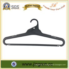 High Quality Top Supplier Black Plastic Clothing Hanger For Shirt