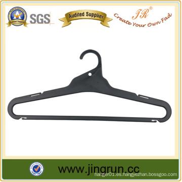 Colgador plástico negro de la ropa de la alta calidad del surtidor superior para la camisa