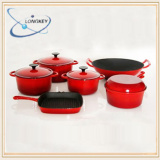 enamel coating cookware set / cast iron casserole