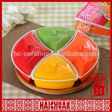Porcelana ronda de diseño de placas de bakeware y lazo redondo palte