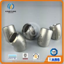 Raccords soudés bout à bout en acier inoxydable coude long rayon 45D coude (KT0291)