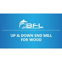 Fraise en bout de compression de carbure de tungstène de BFL pour la coupe en bois, en haut et en bas de la fraise en bout