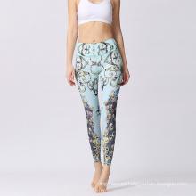 Pantalones de alta calidad de las polainas de la yoga de la aptitud de las mujeres