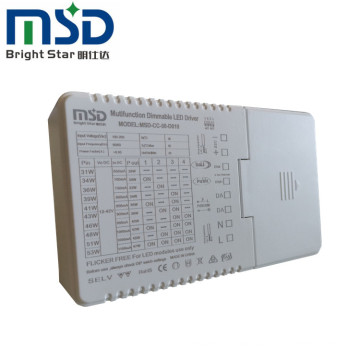 50W dali led driver dimmable 0/1-10V PWM resistance  led driver
