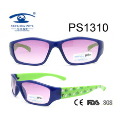 Vintage Blue Frame Colorful Kid Plastic Sunglasses (PS1310)