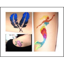 Western Style Glow in the dark temporary tattoo custom stickers with the blue feather