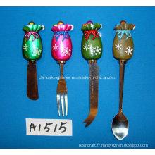 Mélangeur de beurre avec poignée en résine pour décoration de Noël