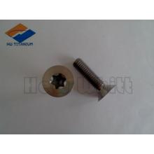 высокая прочность gr5 титанового винт с плоской головкой DIN7991 М5