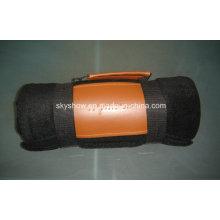 Manta de lana sólida con mango de PU (SSB0197)