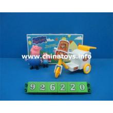 Jouets promotionnels en plastique souple cochon avec chariot de transfert (926220)