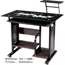 High Quality Black Glass Modern Design Computer Table