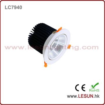 Ce & RoHS genehmigte neues Produkt COB 40W Downlight mit weißer Farbe LC7940