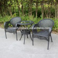 Mesa de café de vime barato preço e cadeiras na Tunísia