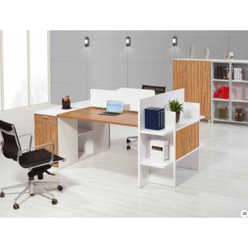 modular brightness melamine office workstation with shelf