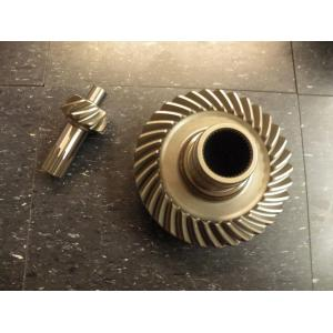 naval brass spiral helix gear and shaft for marine