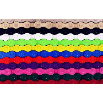 Фиксированная цепь велосипедного цепного соединения 96 для односкоростной велосипедной цепи для велосипедной цепи 12 цветов