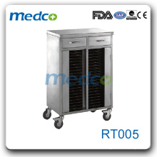 RT005 Aufbewahrungskarton aus rostfreiem Stahl mit 40 Fachböden