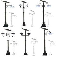 Black Finish High Outdoor Lighting Post with Base
