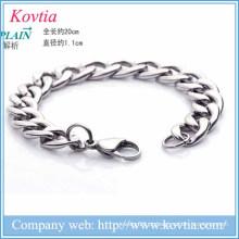 Novos produtos 2016 titânio aço homens pulseira bracelete pulseira nova pulseira