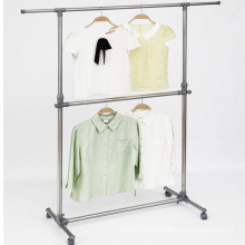 Stainless Steel Double Layer Telescopic Clothes Hanger