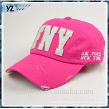 Unisex baseball cap and washed custom logo make in china