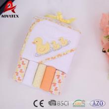 бамбука хлопка с капюшоном ребенок полотенце с капюшоном