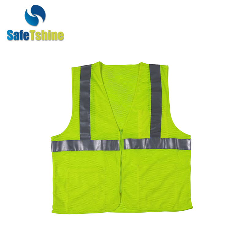 hi viz reflective safety vest with pockets