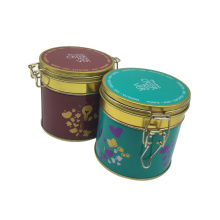 Lock Metal Coffee Tea Tin Conatainwe Boîte en étain en gros