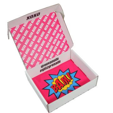 Boîte d'expédition de papier dur de luxe ensemble cosmétique cosmétique expédition de soins de la peau boîtes d'emballage en carton ondulé