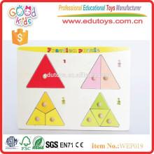 Vorschule pädagogische Kinder hölzerne Fraktion Puzzle
