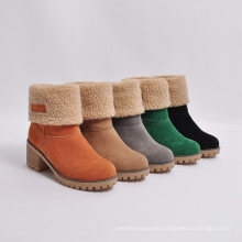 2021 New Design Multi Color Solid Women Winter Fur Boots Large Size