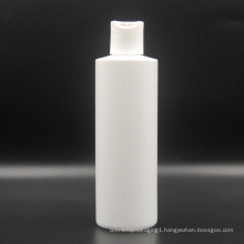 250ml HDPE plastic cosmetic shampoo lotion bottles with press cap