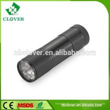 Resistente a tempo 80 lm 9 led lanterna, lâmpada de leitura led