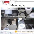 Füllende Verschließmaschine. Kosmetische Rohr-Füll- und Verschließmaschine. Handcreme-Rohr-Füll- und Verschließmaschine