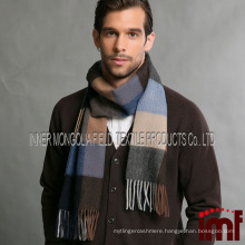 Classic Cashmere Scarf in Check