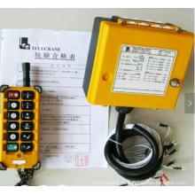 Control remoto inalámbrico industrial de la grúa de arriba