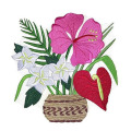 Unique Aloha Bouquet Embroidered Iron on patch