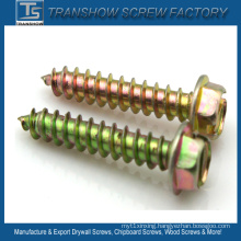 Slotted Hexagon Washer Head Tapping Screws