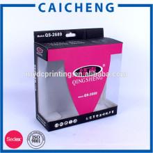 Logo professionnel imprimé couleur boîte ondulée prix pour casque
