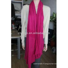 Cachemire tricot écharpes solides châles