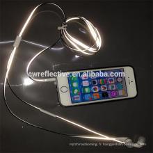 Nouveaux produits réfléchissants dans la fabrication de ligne d'écouteurs d'oreille