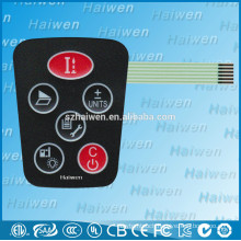 silk-printing Push button membrane switch graphic overlay