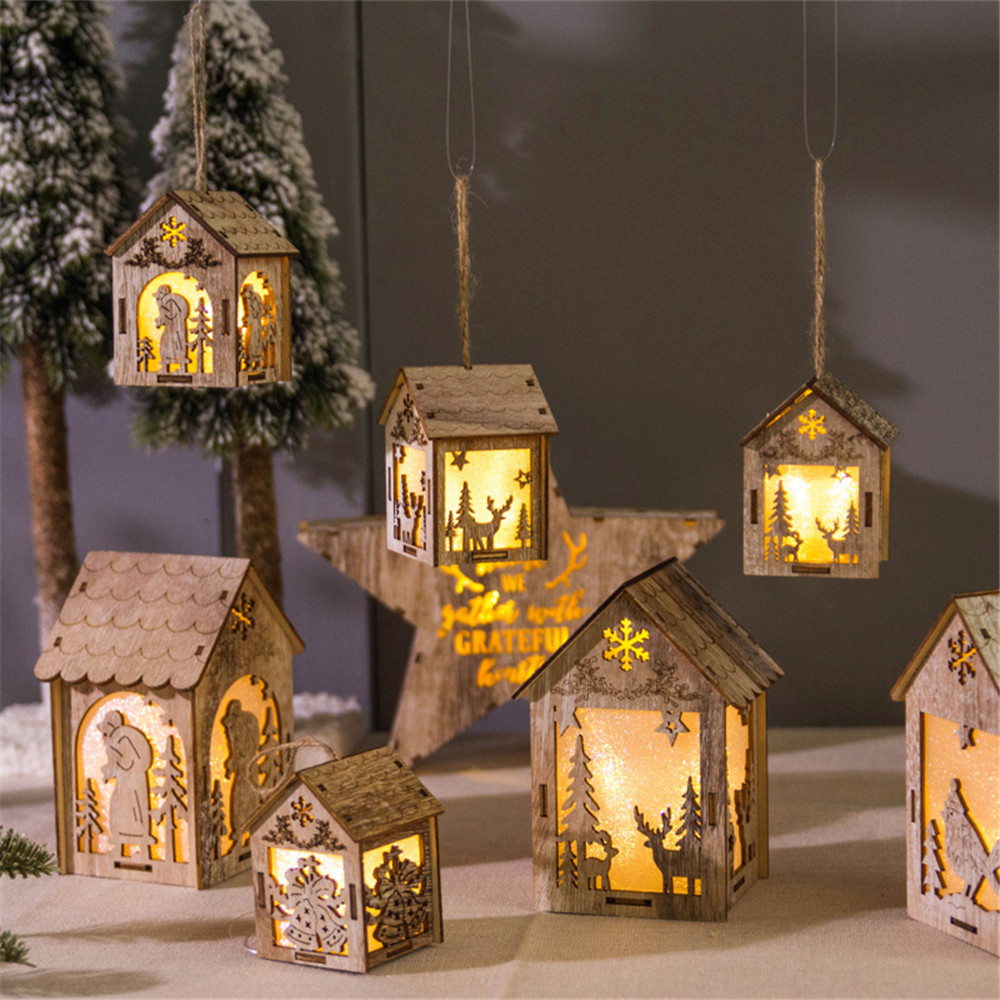 story house shape wooden decoraiotn hanging