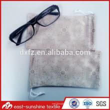 Bolso microfiber de la impresión digital, regalo llano y bolsos de los vidrios, bolso de las gafas de sol de la limpieza del microfiber de la impresión digital de encargo
