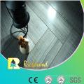 Piso laminado en V acanalado resistente al agua del roble del espejo de 12.3mm