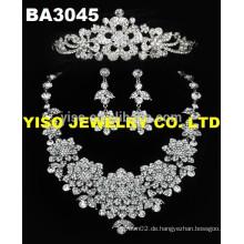 Diamant Stein Hochzeit Schmuck Set Halsketten